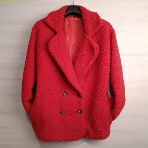 Jackets & Blazers - NEW PRICE! Teddy Bear Jacket in Fire Engine Red